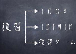 復習(100%・1D1W1M・復習ターム)
